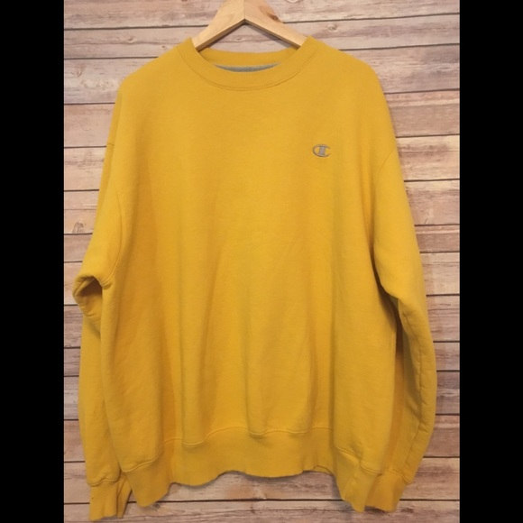 Champion Sweatshirt XL Yellow ECO
